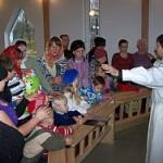 Harlun seurakunnassa kastettiin useita lapsia
