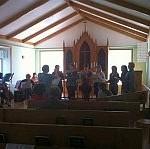 Taize-laulut kaikuivat musiikkijuhlassa Rzhevissä