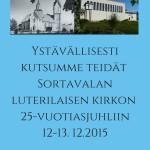 Sortavalan seurakunnan 25-vuotisjuhla