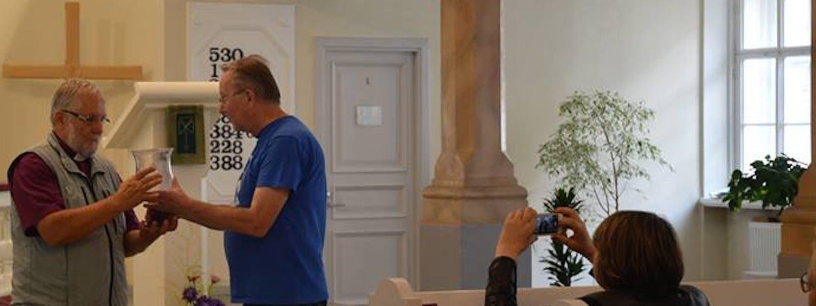 Venjoen ehtoollismalja palautettiin Inkerin kirkolle